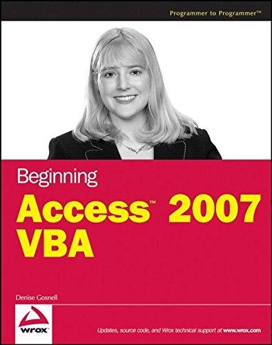 9780470046845: Beginning Access 2007 VBA