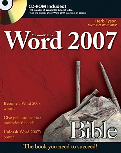 9780470046890: Microsoft Word 2007 Bible