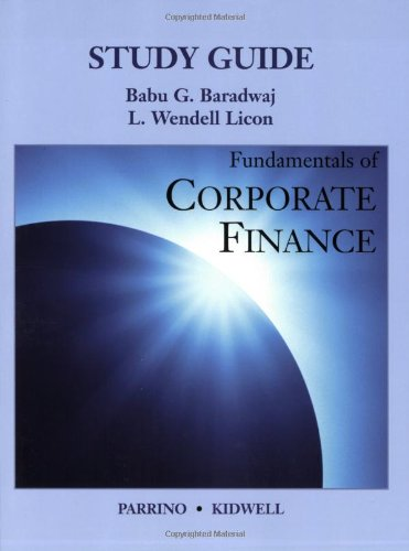9780470048603: Fundamentals of Corporate Finance