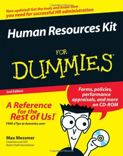 Human Resources Kit For Dummies: Harold Messmer Jr.
