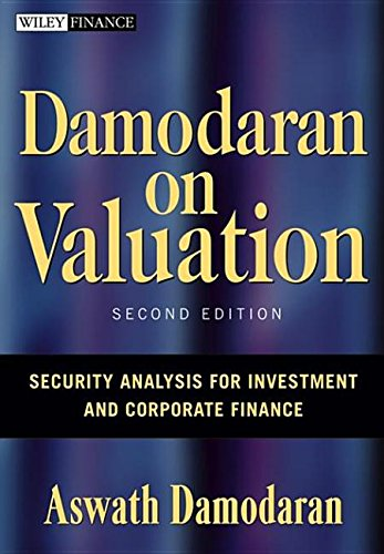 9780470049372: Damodaran on Valuation: Security Analysis for Investment And Corporate Finance