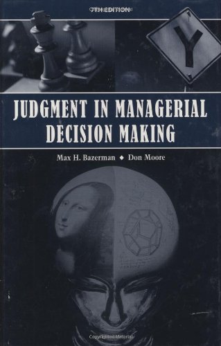 9780470049457: Judgment in Managerial Decision Making