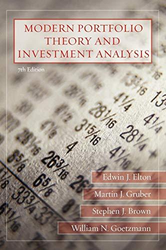 9780470050828: Modern Portfolio Theory and Investment Analysis