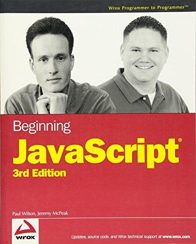 9780470051511: Beginning JavaScript, 3rd Edition (Programmer to Programmer)