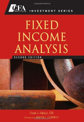 9780470052211: Fixed Income Analysis (CFA Institute Investment Series)