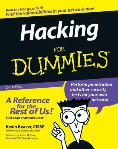 Hacking For Dummies (For Dummies (Computers)) 9780470052358 Are you worried about external hackers and rogue insiders breaking into your systems? Whether it's social engineering, network infrastructure attacks, or application hacking, security breaches in your systems can devastate your business or personal life. In order to counter these cyber bad guys, you must become a hacker yourself—an ethical hacker. Hacking for Dummies shows you just how vulnerable your systems are to attackers. It shows you how to find your weak spots and perform penetration and other security tests. With the information found in this handy, straightforward book, you will be able to develop a plan to keep your information safe and sound. You'll discover how to: Work ethically, respect privacy, and save your system from crashing Develop a hacking plan Treat social engineers and preserve their honesty Counter war dialing and scan infrastructures Understand the vulnerabilities of Windows, Linux, and Novell NetWare Prevent breaches in messaging systems, web applications, and databases Report your results and managing security changes Avoid deadly mistakes Get management involved with defending your systems As we enter into the digital era, protecting your systems and your company has never been more important. Don't let skepticism delay your decisions and put your security at risk. With Hacking For Dummies, you can strengthen your defenses and prevent attacks from every angle!