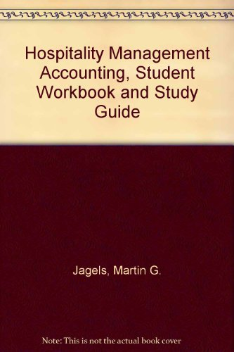 9780470052440: Hospitality Management Accounting, Student Workbook and Study Guide