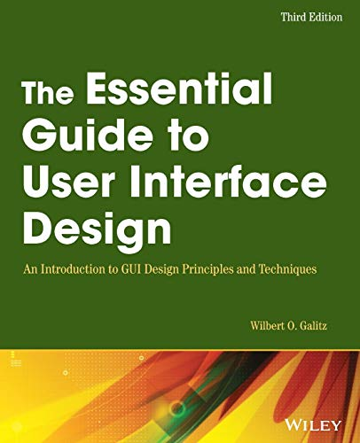 9780470053423: The Essential Guide to User Interface Design: An Introduction to GUI Design Principles and Techniques (CourseSmart)