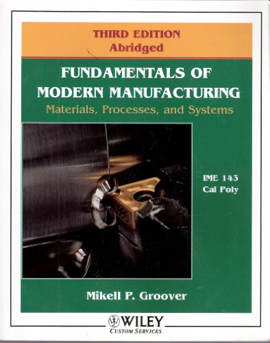 9780470053553: Fundamentals of Modern Manufacturing: Materials, Processes and Systems