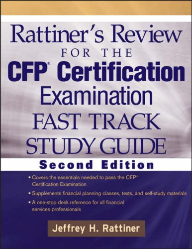 9780470054550: Rattiner's Review for the CFP Certification Examination, Fast Track, Study Guide