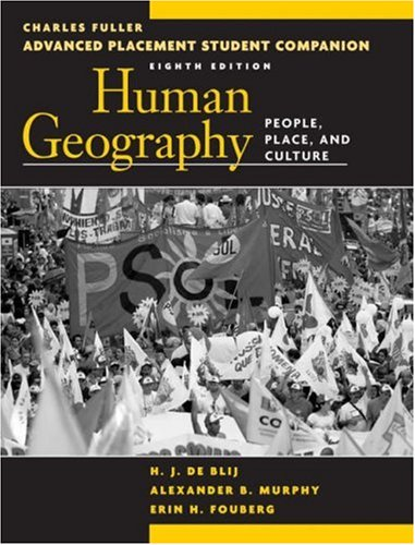 9780470054604: Advanced Placement Student Companion to Accompany Human Geography: People, Place, and Culture