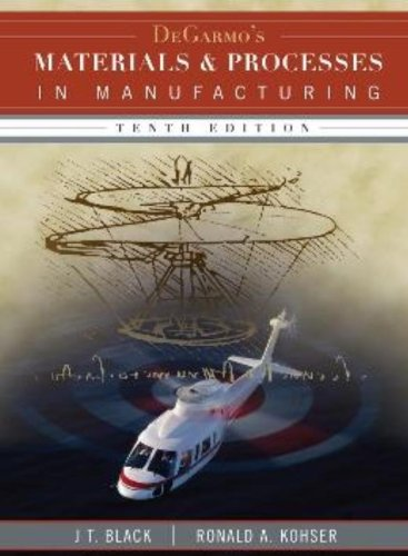 9780470055120: DeGarmo's Materials and Processes in Manufacturing