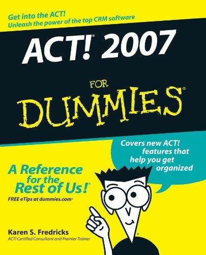9780470055144: ACT! 2007 For Dummies