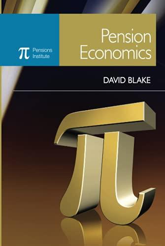 9780470058442: Pension Economics