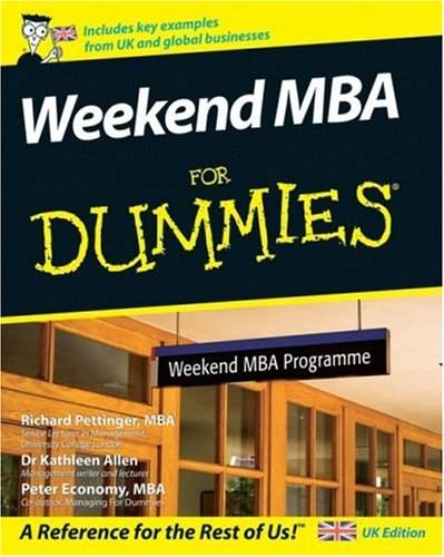 9780470060971: Weekend MBA for Dummies (For Dummies)