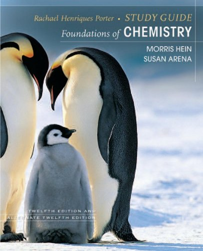 9780470067161: Foundations of College Chemistry, Study Guide