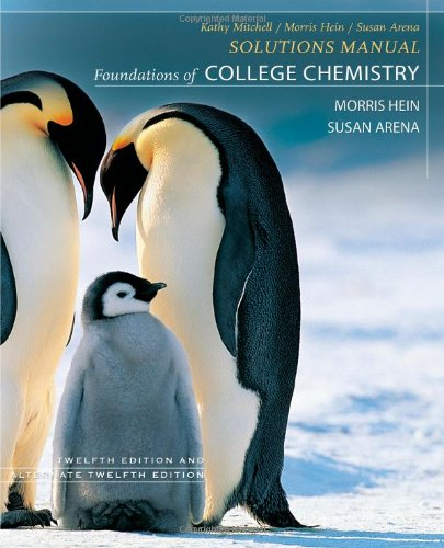 9780470067178: Foundations of College Chemistry, Student Solutions Manual