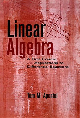 9780470067833: Linear Algebra: A First Course with Applications to Differential Equations