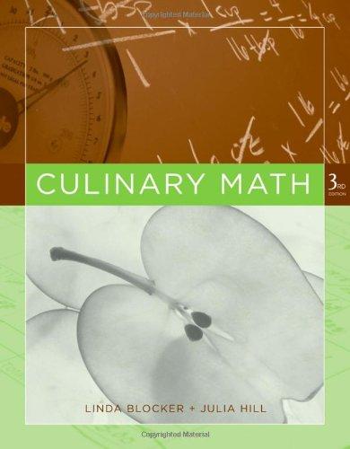 9780470068212: Culinary Math
