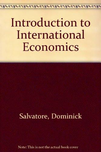 9780470068465: Introduction to International Economics