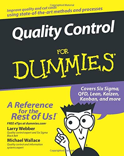 9780470069097: Quality Control for Dummies