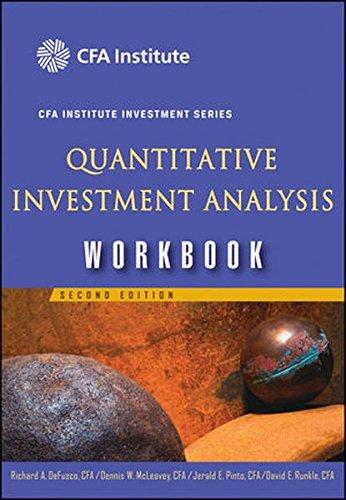 9780470069189: Quantitative Investment Analysis Workbook