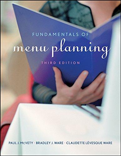 9780470072677: Fundamentals of Menu Planning 3E