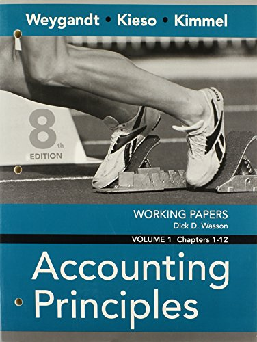 9780470074060: Working Papers, Volume I, Chapters 1-12 to accompany Accounting Principles