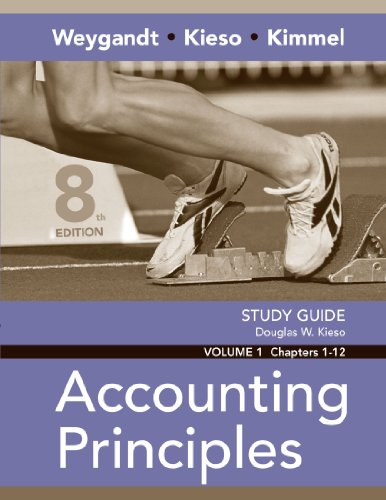 9780470074084: Study Guide, Volume I, Chs. 1-12 to Accompany Accounting Principles