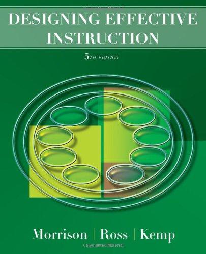 9780470074268: Designing Effective Instruction