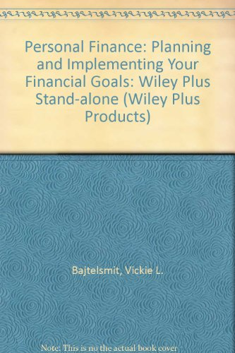 9780470075371: Personal Finance: Planning and Implementing Your Financial Goals: Wiley Plus Stand-alone (Wiley Plus Products)