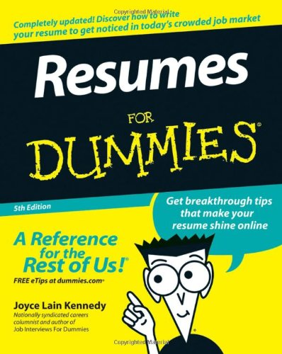 9780470080375: Resumes for Dummies