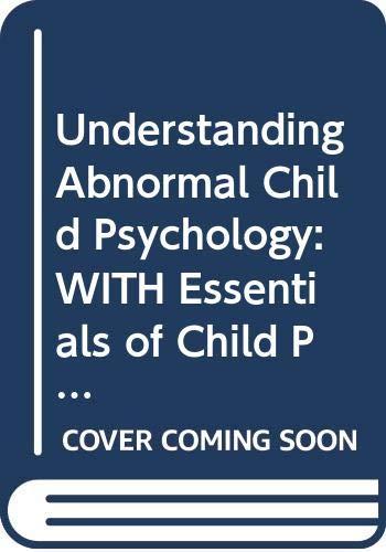 9780470083222: Understanding Abnormal Child Psychology