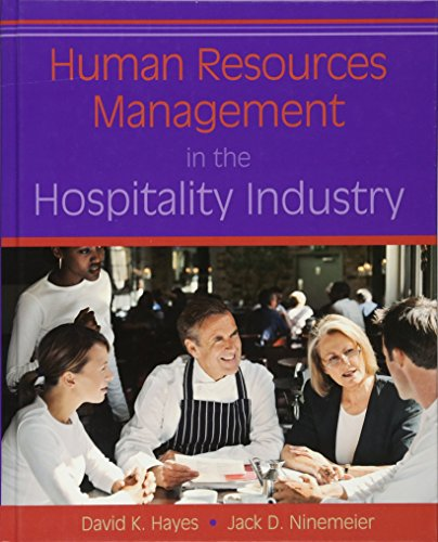 9780470084809: Human Resources Management in the Hospitality Industry