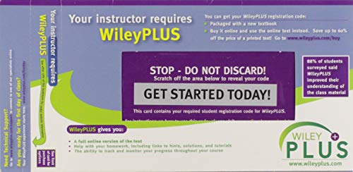 9780470087312: Wiley Plus Wrapper