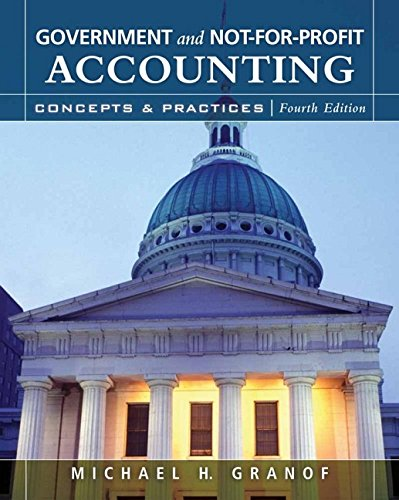 9780470087343: Government and Not-for-Profit Accounting: Concepts and Practices
