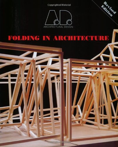 Folding in Architecture 9780470092187 This seminal book from Architectural Design was originally published in 1993, at a time of crucial change and on the eve of the digital revolution. It brought together a series of essays that many believe created the favourable environment in which computer-based design could thrive. Considered one of the most influential architecture publications of the 1990s, this book ranks as a classic and in itself is a crucial chapter of history, though one that has been out of print since 1999. This faithful reprinting includes a substantial new introductory essay by Mario Carpo, Head of the Study Centre at the Canadian Centre for Architecture, which examines the impact of the original texts and their ongoing significance. Thereafter, the book is true to its original content showcasing projects by ground-breaking architects such as Greg Lynn, Jeffrey Kipnis, Bahram Shirdel, Frank Gehry and Philip Johnson.