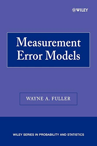 9780470095713: Measurement Error Models