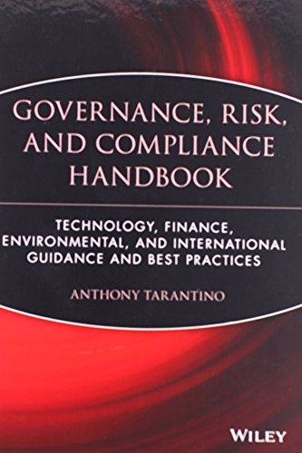 9780470095898: Governance, Risk, and Compliance Handbook: Technology, Finance, Environmental, and International Guidance and Best Practices