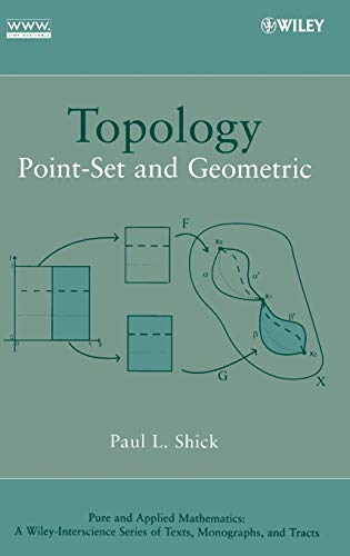 9780470096055: Topology: Point-set and Geometric