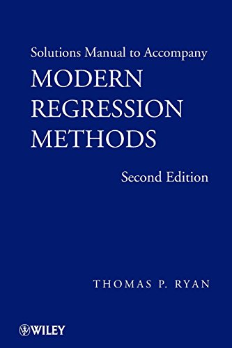 9780470096062: Modern Regression Methods, Solutions Manual (Wiley Series in Probability and Statistics)