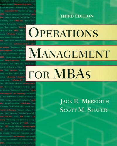 9780470096932: Operations Management for MBAs with Crystal Ball CD
