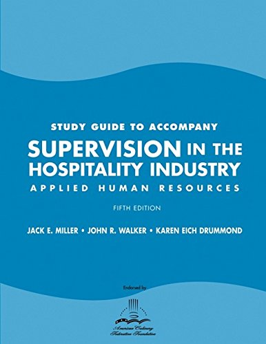 9780470099087: Supervision in the Hospitality Industry, Study Guide: Applied Human Resources