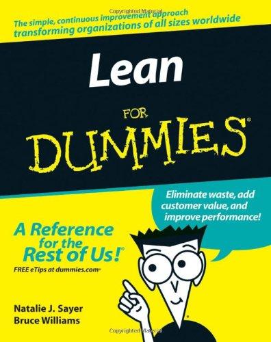 9780470099315: Lean For Dummies