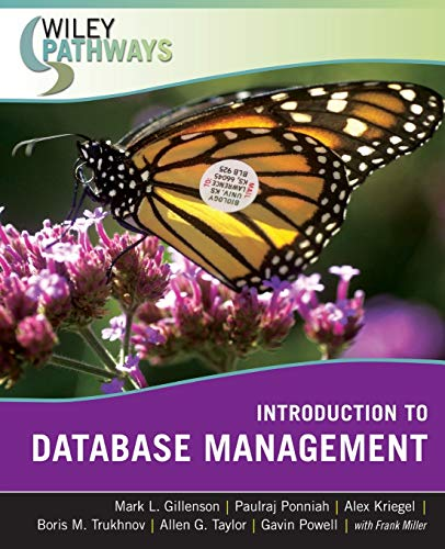 9780470101865: Wiley Pathways Introduction to Database Management