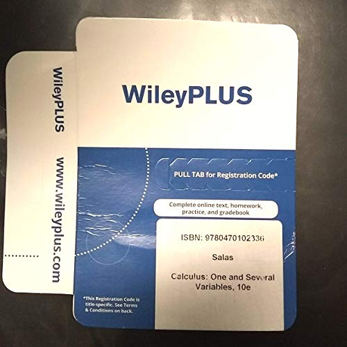 9780470102336: Calculus One and Several Variables 10E WileyPlus Standalone Registration Card (Wiley Plus Products)