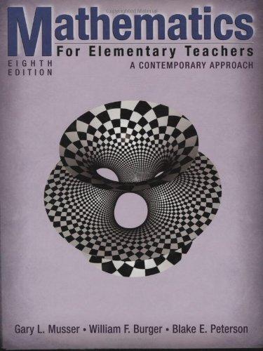 9780470105832: Mathematics for Elementary Teachers: A Contemporary Approach