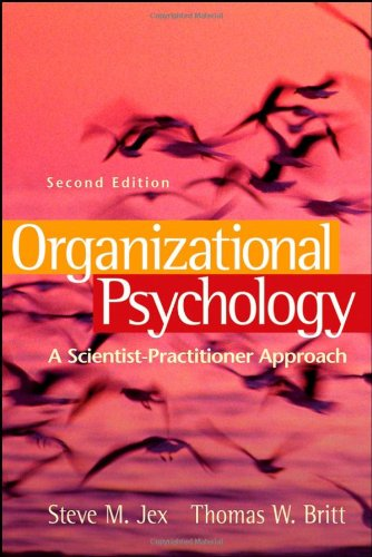 9780470109762: Organizational Psychology: A Scientist-Practitioner Approach