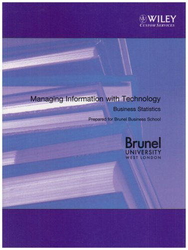 9780470109830: Managing Information with Technology Business Statistics