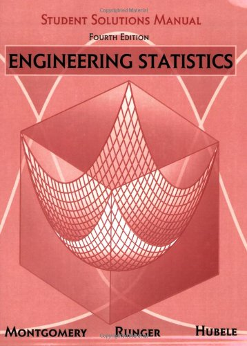 9780470110041: Engineering Statistics, Student Solutions Manual